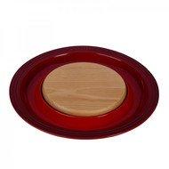 Le Creuset Подставка для сыра, 37х3.5 см, с деревянной доской, вишня (91044900060010)