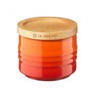 Le Creuset Сахарница, 6.5х5.5 см, с крышкой, оранжевая лава