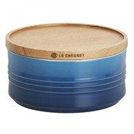 Le Creuset Банка с деревянной крышкой L (0.65 л), синяя (91044402310099)