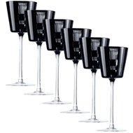 Ajka Crystal Набор фужеров для вина Retro Black (170 мл), черных, 6 шт