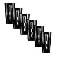 Ajka Crystal Набор стаканов высоких Retro Black (290 мл), черных, 6 шт
