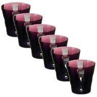 Ajka Crystal Набор стаканов низких Retro Black (270 мл), аметист, 6 шт