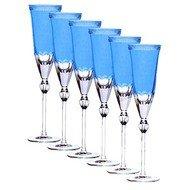 Ajka Crystal Набор фужеров для шампанского Heaven Blue (170 мл), голубых, 6 шт