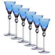 Ajka Crystal Набор рюмок для ликера Heaven Blue (70 мл), голубых, 6 шт