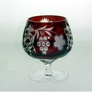 Ajka Crystal Фужер для коньяка Grape (300 мл), темно-бордовый