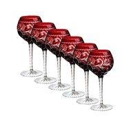 Ajka Crystal Набор фужеров для красного вина Monica (360 мл), темно-бордовых, 6 шт