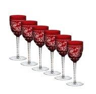 Ajka Crystal Набор фужеров для вина Monica (320 мл), темно-бордовых, 6 шт