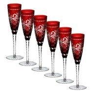 Ajka Crystal Набор фужеров для шампанского Monica (170 мл), темно-бордовых, 6 шт