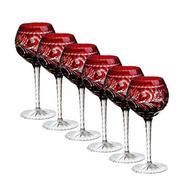 Ajka Crystal Набор фужеров для вина Monica (240 мл), темно-бордовых, 6 шт