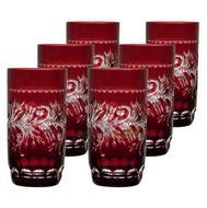 Ajka Crystal Набор стаканов высоких Monica (400 мл), темно-бордовых, 6 шт