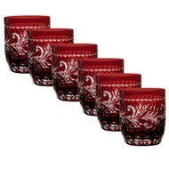 Ajka Crystal Набор стаканов низких Monica (360 мл), темно-бордовых, 6 шт