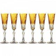Ajka Crystal Набор фужеров для шампанского St. Louis (120 мл), янтарных, 6 шт