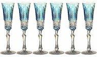 Ajka Crystal Набор фужеров для шампанского St. Louis (120 мл), светло-голубых, 6 шт