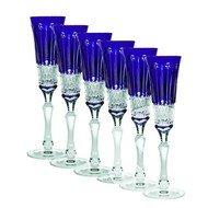 Ajka Crystal Набор фужеров для шампанского St. Louis (120 мл), синих, 6 шт