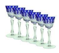 Ajka Crystal Набор фужеров для вина St. Louis (220 мл), синих, 6 шт