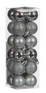 Triumph Nord Набор декоративных шаров, 3 см, серебро, 24 шт.
