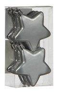 Triumph Nord Набор декоративный Звезда, 6.5 см, серебро, 6 шт.