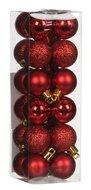 Triumph Nord Набор декоративных шаров, 3 см, красный, 24 шт.