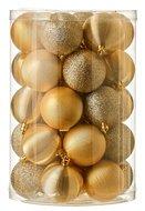 Triumph Nord Набор декоративных шаров, 6 см, золото, 34 шт.