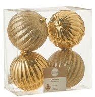 Triumph Nord Набор декоративных шаров, 10 см, золото, 4 шт.