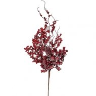 House of Seasons Веточка декоративная с ягодами, 74 см, красная, в снегу