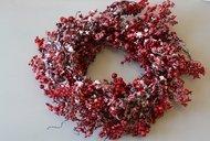 House of Seasons Круг декоративный с ягодами, 60 см, красный, в снегу