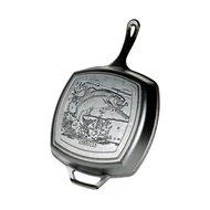 Lodge Сковорода-гриль квадратная Fish Logo-Лого Рыба, 26х26 см, с двумя ручками