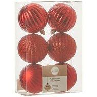 Triumph Nord Набор шаров, 7 см, 6 шт, красный, в прозрачной коробке