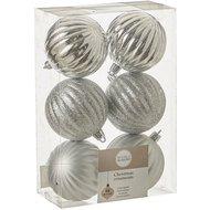 Triumph Nord Набор шаров, 7 см, 6 шт, серебро, в прозрачной коробке