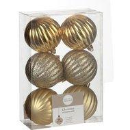Triumph Nord Набор шаров, 7 см, 6 шт, золото, в прозрачной коробке