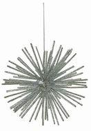 Triumph Nord Подвеска декоративная Шар, 12 см, серебро, 12шт.