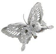 Triumph Nord Бабочка декоративная, 14х2.5х9 см, серебро, клипса
