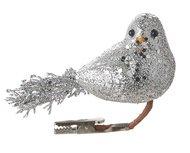 Triumph Nord Птица декоративная, 14х13 см, серебро, клипса, 48шт.