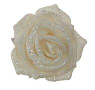 Triumph Nord Роза декоративная, 9 см, белая, клипса, 36шт.