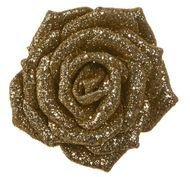 Triumph Nord Роза декоративная, 9 см, шампань, клипса, 36шт