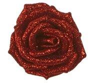Triumph Nord Роза декоративная, 9 см, красная, клипса