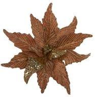 Triumph Nord Рождественский цветок декоративный, 30 см, темно-серый, клипса, 24шт.