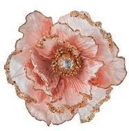 Triumph Nord Цветок декоративный, 14х18х9 см, светло-розовый, клипса