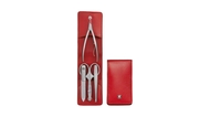 Zwilling J.A. Henckels Маникюрный набор Twinox, 4 пр., в футляре-кармане, воловья кожа, красный