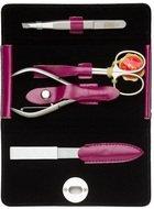Mertz Manicure Маникюрный набор, 4 пр., футляр кожаный, розовый