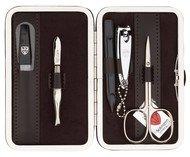 Drei Schwerter Маникюрный набор, 5 пр., в футляре из текстиля, коричневый