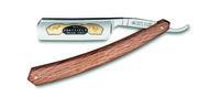 Thiers-Issard Опасная бритва, 6/8 дюйма, с черным чехлом из кожи, гравировка на лезвии с применением сусального золота