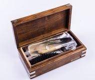 Dr.Dittmar Мужской набор для бороды и усов Dr.Dittmar, 8 пр., в кейсе из красного дерева, B5506