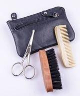 Dr.Dittmar Мужской набор для формирования бороды и усов Dr.Dittmar, 3 пр., в чехле из натуральной кожи, B5004