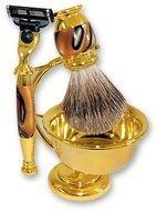 S.Quire Бритвенный набор, 4 пр., золотисто-коричневый