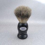 Hans Baier Помазок для бритья, черный пластик, ворс барсука