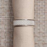 CHILEWICH Кольцо для салфеток White, 4 см