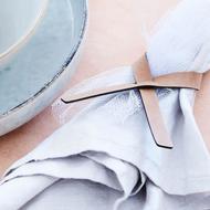 Lind Dna Кольцо для cалфетки, 1х13 см, 4 шт., розовое