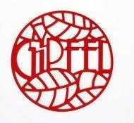 Gipfel Подставка под горячее Glum, 17х17х0.8 см, красная