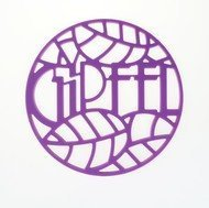 Gipfel Подставка под горячее Glum, 17х17х0.8 см, фиолетовая
